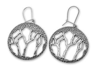Сребърни обеци без камъни 131626