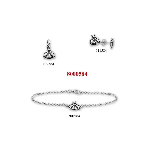 Сребърни бижута - комплект 8000584