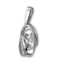 Висулки от сребро с камък - 184932