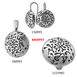Сребърни бижута - комплект 8000993
