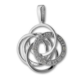 Висулки от сребро с камък - 176927