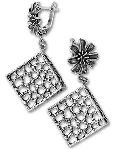 Сребърни обеци без камъни 131969