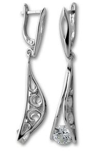 Oбици с камъни от сребро - 122477