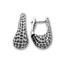 Сребърни обеци без камъни 136943