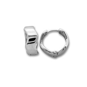 Сребърни обеци без камъни - 126252