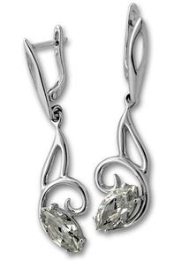 Oбици с камъни от сребро - 122893
