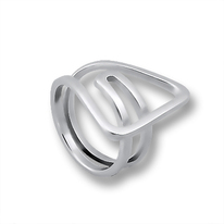 Сребърни пръстени без камък - 1545211