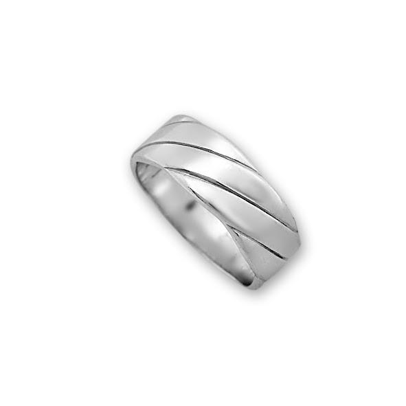 Сребърен пръстен без камък 1665272