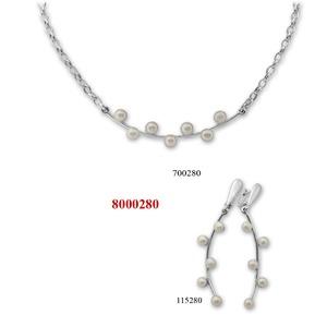 Сребърни бижута - комплект 8000280