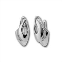 Сребърни обеци без камъни - 132874