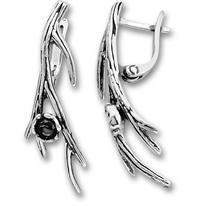 Сребърни обеци без камъни - 132952