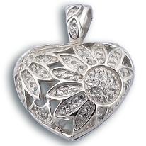 Висулки от сребро с камък - 193218