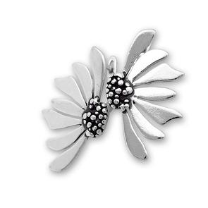 Сребърни обеци без камъни 136189