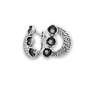 Oбици с камъни от сребро - 137011