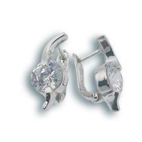 Oбици с камъни от сребро - 121048