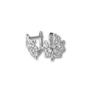 Сребърни обици без камъни - 133978.1