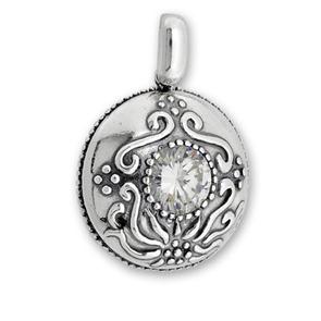Висулки от сребро с камък - 191041