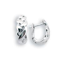 Сребърни обеци без камъни - 133977