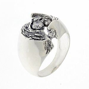 Пръстени с камък от сребро - 1586100