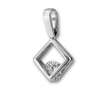 Висулки от сребро с камък - 184478