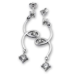 Oбици с камъни от сребро - 121592