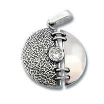 Висулки от сребро с камък - 182830