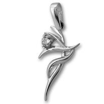 Висулки от сребро с камък - 184472