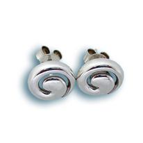 Сребърни обеци без камъни - 133588