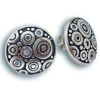 Сребърни обеци без камъни - 131509