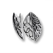 Сребърни обеци без камъни - 131856