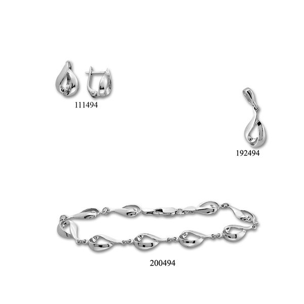 Сребърни бижута - комплект 8000494