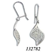 Сребърни обеци без камъни - 132782