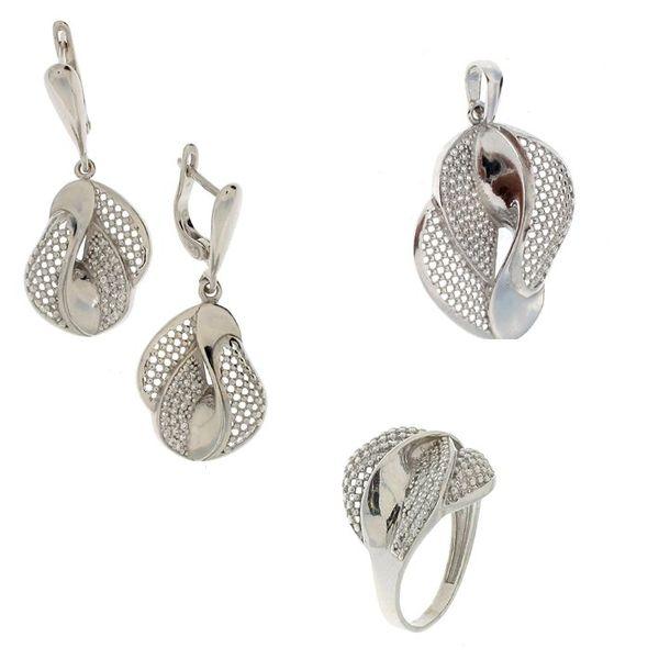 Сребърни бижута - комплект 8000087
