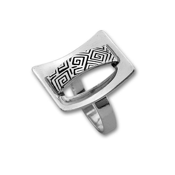 Сребърен пръстен без камък 1535920