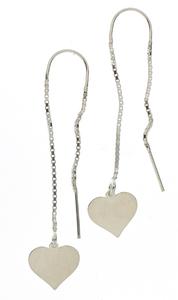 Сребърни обеци без камъни 601002