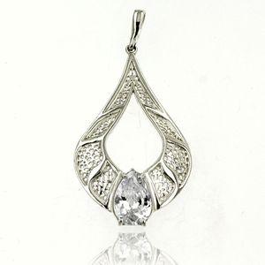 Висулка от сребро с камък 182132