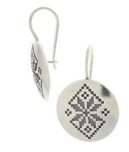 Сребърни обици без камъни - 136101