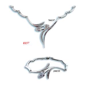 Сребърни бижута - комплект 8000157