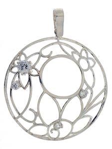 Висулки от сребро с камък - 174651