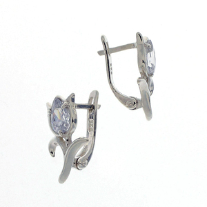 Oбици с камъни от сребро - 121644