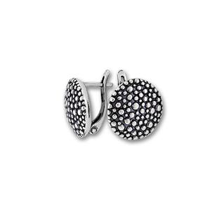 Сребърни обеци без камъни - 132958