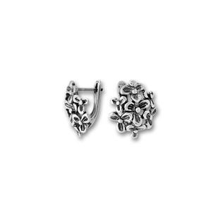 Сребърни обици без камъни - 133978