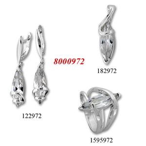 Сребърни бижута - комплект 8000972