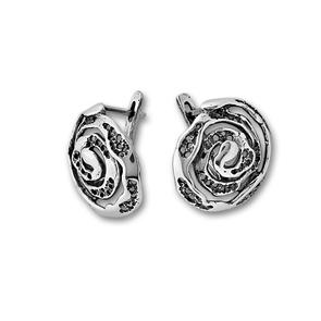Сребърни обеци без камъни - 132918