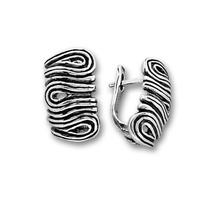 Сребърни обеци без камъни - 133938