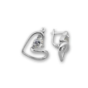 Oбици с камъни от сребро - 121046