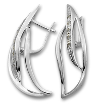 Oбици с камъни от сребро - 137935