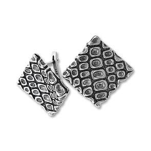 Сребърни обеци без камъни - 131991