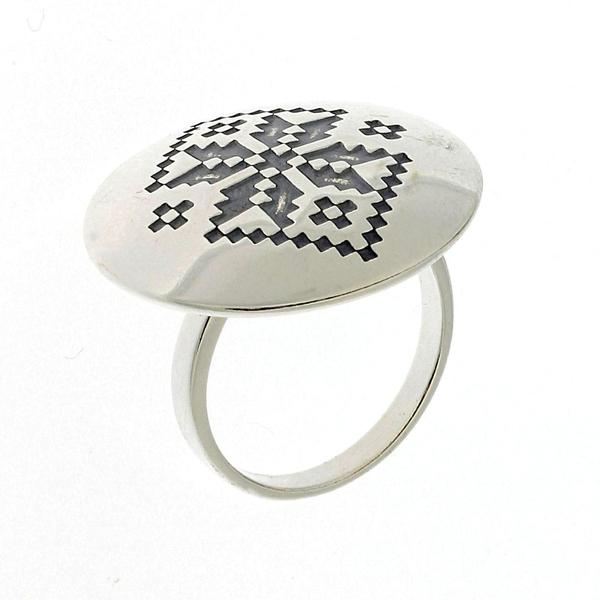 Сребърен пръстен без камък 1536101