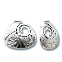 Сребърни обеци без камъни - 132832